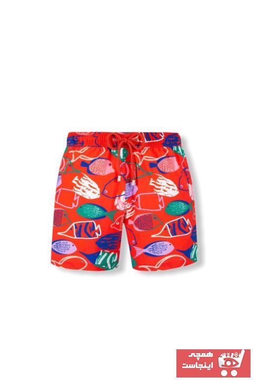 خرید انلاین مایو جدید پسرانه شیک برند Landed رنگ قرمز ty102253850