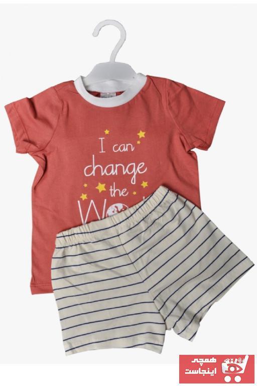 ست لباس نوزاد پسرانه خاص Fuar Baby رنگ نارنجی کد ty102338683