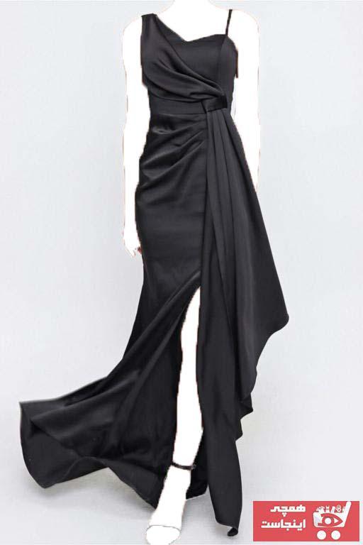 لباس مجلسی زنانه کوتاه برند ZEROPOINT رنگ مشکی کد ty102757651