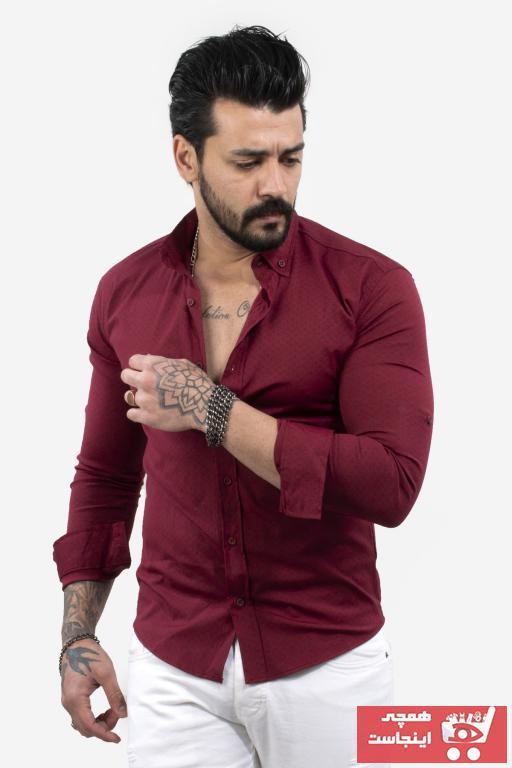 پیراهن اسپرت مردانه قیمت برند DeepSEA رنگ زرشکی ty103148109