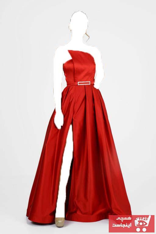 لباس مجلسی 2020 زنانه برند VOLAN رنگ قرمز ty103408509