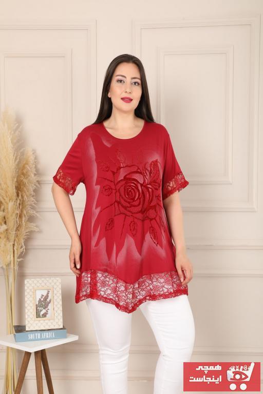 خرید تونیک زنانه شیک برند XL Modam رنگ قرمز ty103722454