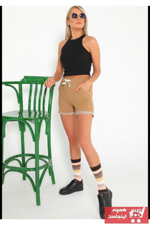 خرید انلاین شلوارک ورزشی مردانه طرح دار برند NOKTA GİYİM رنگ قهوه ای کد ty104013637