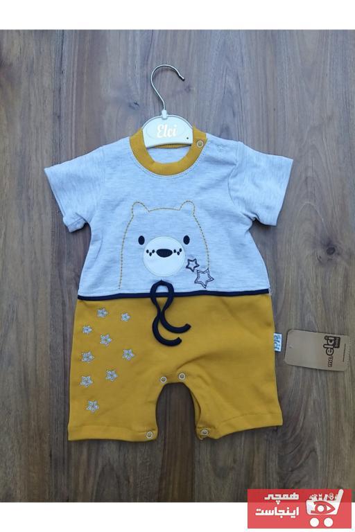 سرهمی نوزاد پسرانه شیک و جدید برند Mc. Elci Baby رنگ زرد ty104122280