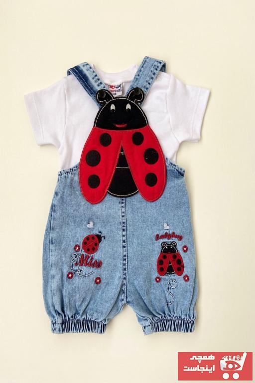 خرید اینترنتی ست لباس نوزاد دخترانه برند PODİUM GİYİM رنگ آبی کد ty104171767