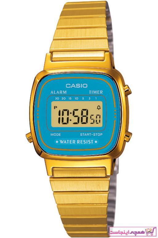 خرید انلاین ساعت زنانه ارزان برند Casio رنگ طلایی ty1059359