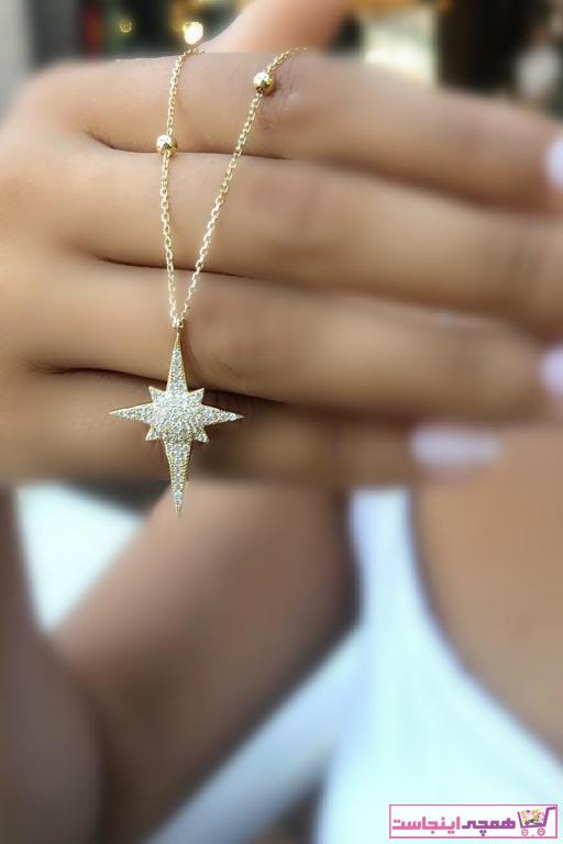 خرید اسان گردنبند طلا زنانه اسپرت جدید برند Safir Kuyumculuk رنگ زرد ty14287809