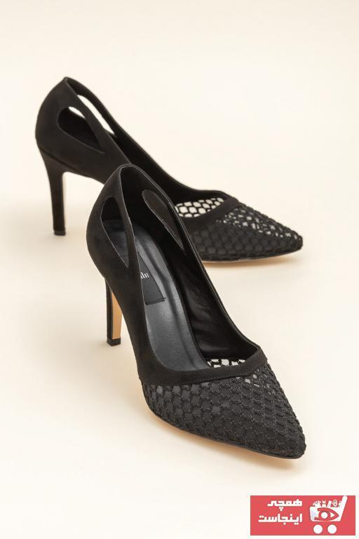 پاشنه دار فانتزی برند Elle Shoes رنگ مشکی کد ty25333059