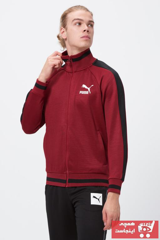 سفارش گرمکن ورزشی مردانه ارزان برند Puma رنگ زرشکی ty31059939