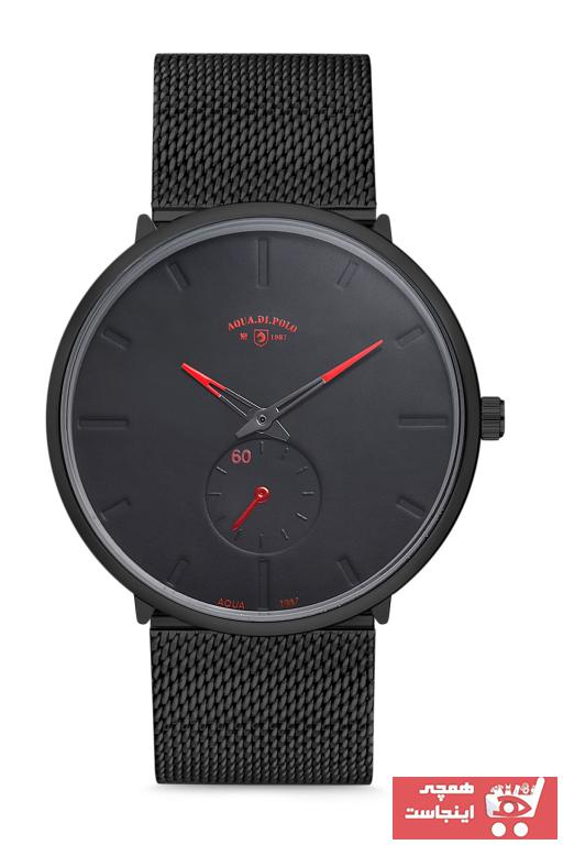 فروش ساعت مچی مردانه لوکس مارک Aqua Di Polo 1987 رنگ مشکی کد ty31273360