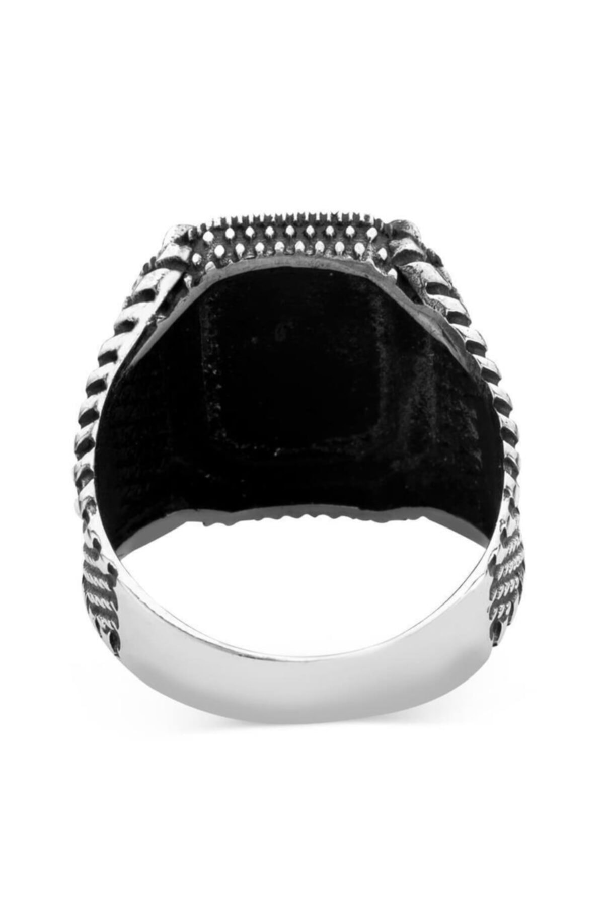 فروش انگشتر مردانه 2021 برند Anı Yüzük رنگ مشکی کد ty31301624