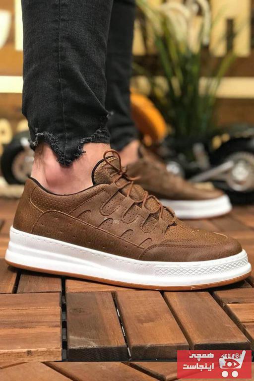 خرید کفش اسپرت غیرحضوری برن Chekich رنگ قهوه ای کد ty31651641