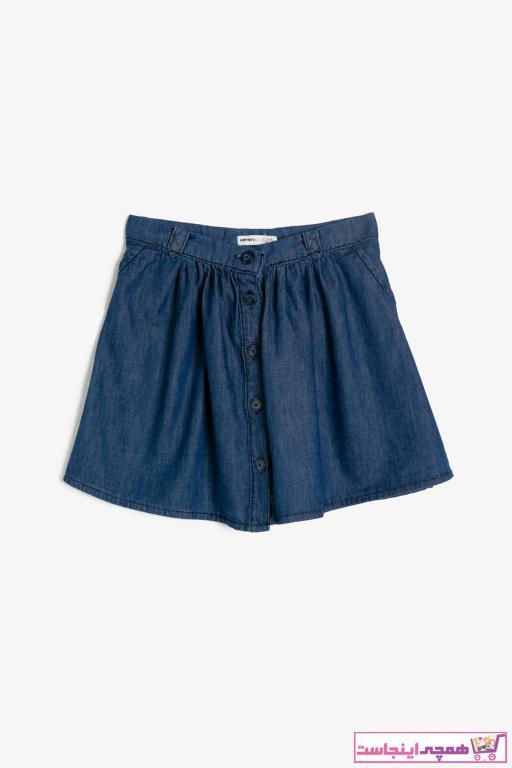دامن جدید دخترانه شیک برند Koton Kids رنگ آبی کد ty31990918