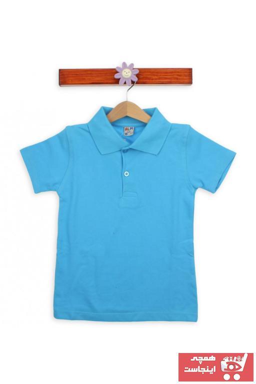 فروش نقدی پولو شرت بچه گانه دخترانه خاص برند A.L.M Kids رنگ فیروزه ای ty32067912