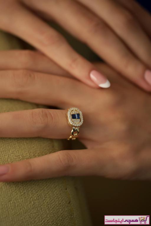 فروش نقدی انگشتر زنانه خاص برند İzla Design رنگ نقره کد ty32201402