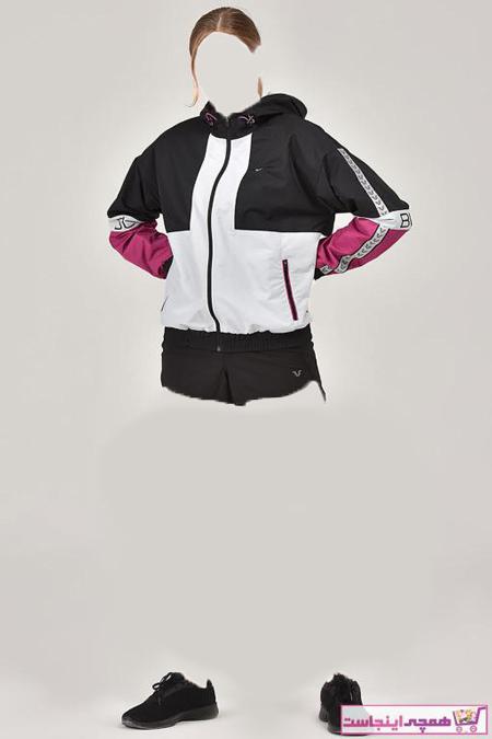خرید اینترنتی گرمکن ورزشی خاص زنانهخرید انلاین گرمکن ورزشی زیبا زنانه برند bilcee رنگ مشکی کد ty32331490