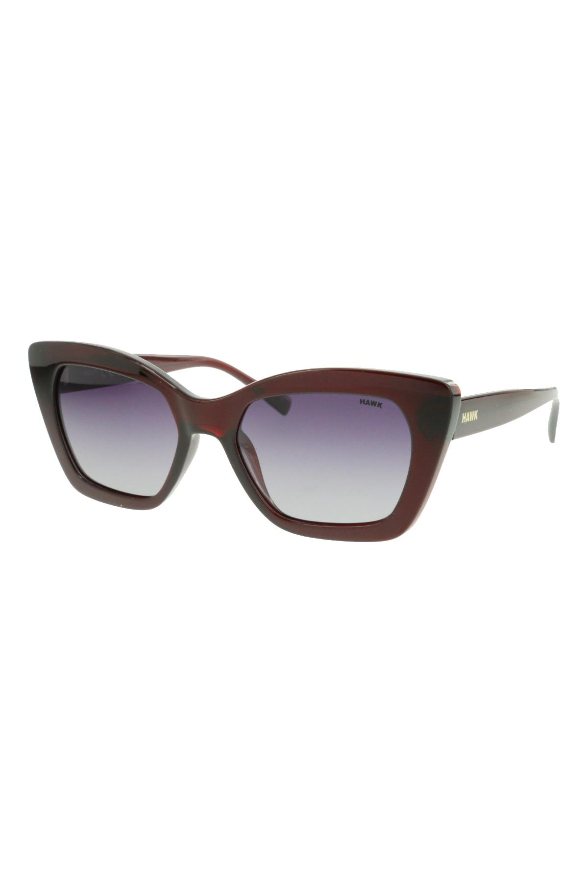 سفارش انلاین عینک آفتابی زنانه ساده برند HAWK رنگ قهوه ای کد ty32526103
