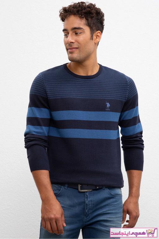 پلیور بافتی مردانه قیمت مناسب مارک یو اس پولو رنگ آبی کد ty32585940
