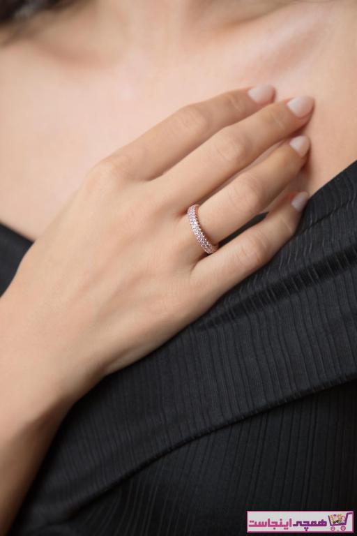 فروشگاه انگشتر زنانه سال 1400 برند Elika Silver رنگ صورتی ty32914345