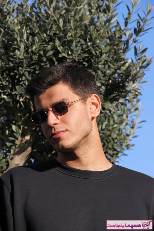 عینک آفتابی طرح دار برند HAWK رنگ زرد ty32948944