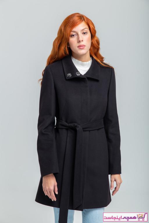 پالتو زنانه مدل دار برند KENT رنگ مشکی کد ty33280384