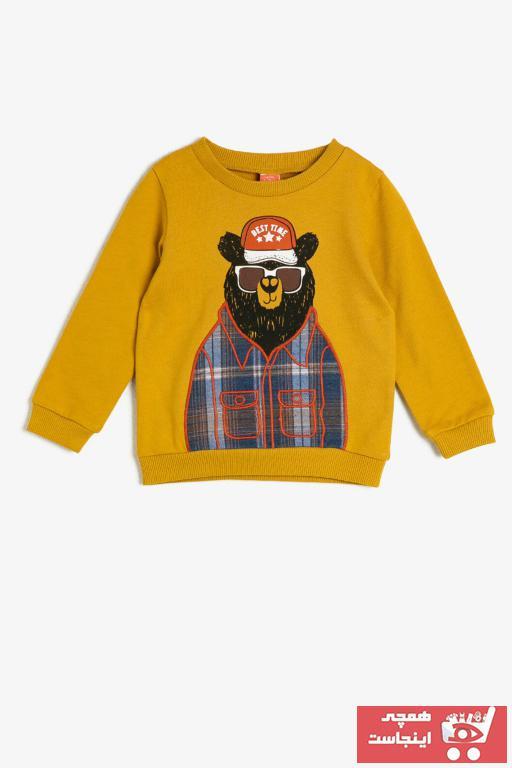 سویشرت ارزان نوزاد پسر برند Koton Kids رنگ زرد ty33368141