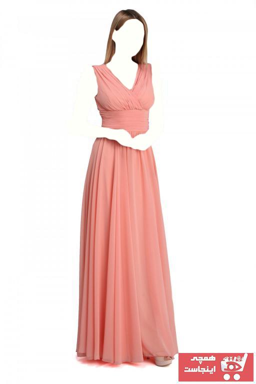 لباس مجلسی زنانه ترک جدید مارک پیرکاردین رنگ صورتی ty3337065
