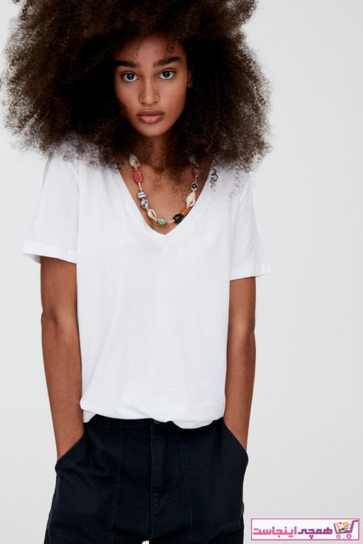 خرید انلاین تیشرت زنانه خاص برند Pull & Bear کد ty33418639