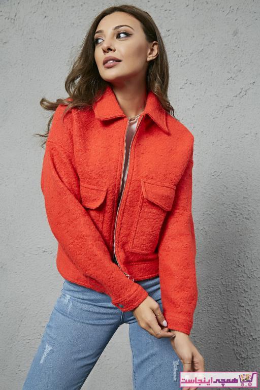 ژاکت زنانه برند Sateen رنگ نارنجی کد ty33461390
