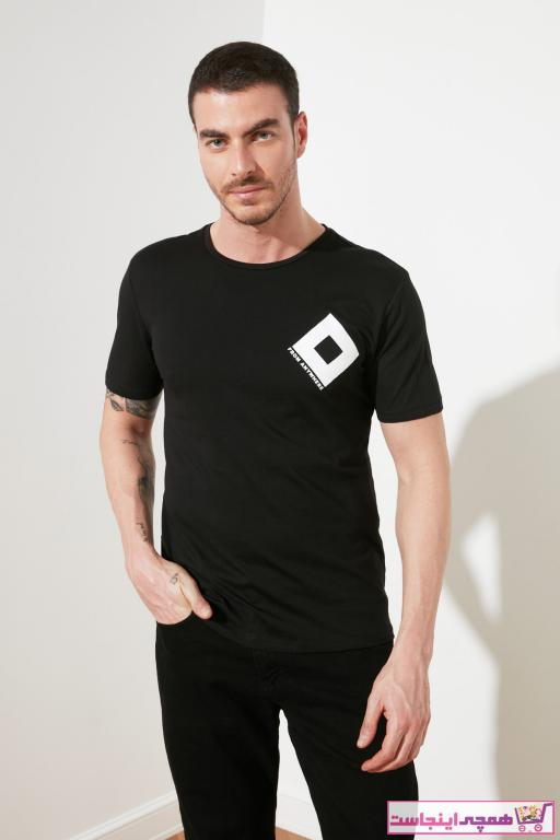 خرید پستی تیشرت زیبا برند ترندیول مرد رنگ مشکی کد ty33935763