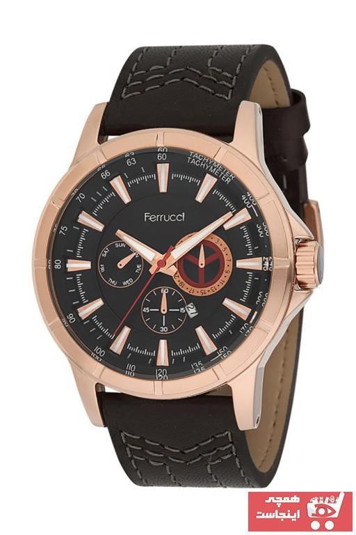خرید پستی ساعت مردانه ارزان برند Ferrucci رنگ صورتی ty34043234