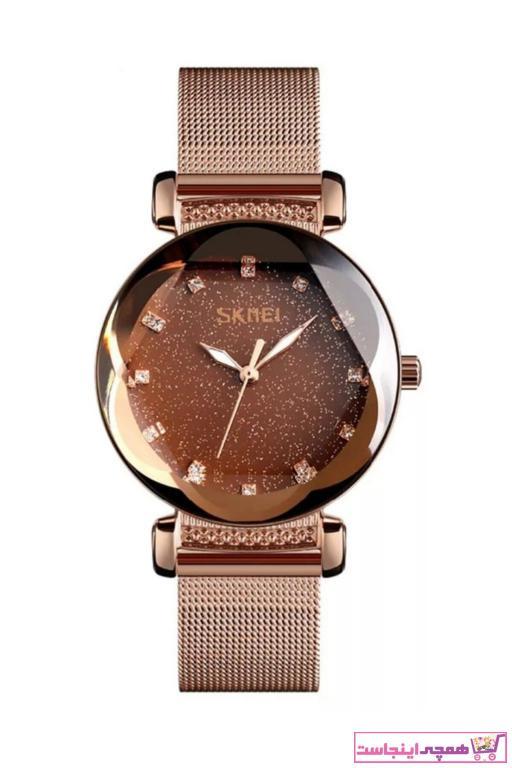 خرید ساعت مچی زنانه لوکس 2021 برند Skmei رنگ طلایی ty34406979