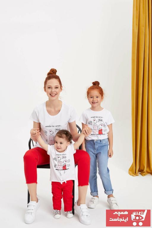 خرید پستی تیشرت شیک نوزاد دخترانه برند دفاکتو ترک رنگ نقره ای کد ty34693152
