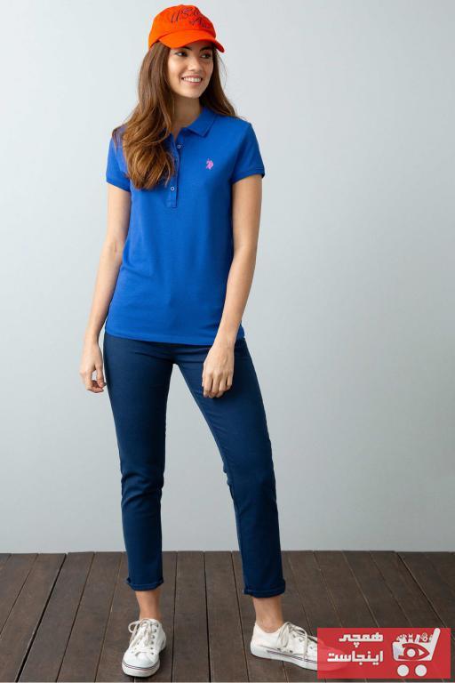 خرید اینترنتی پولوشرت زنانه برند U.S. Polo Assn. رنگ لاجوردی کد ty34988889