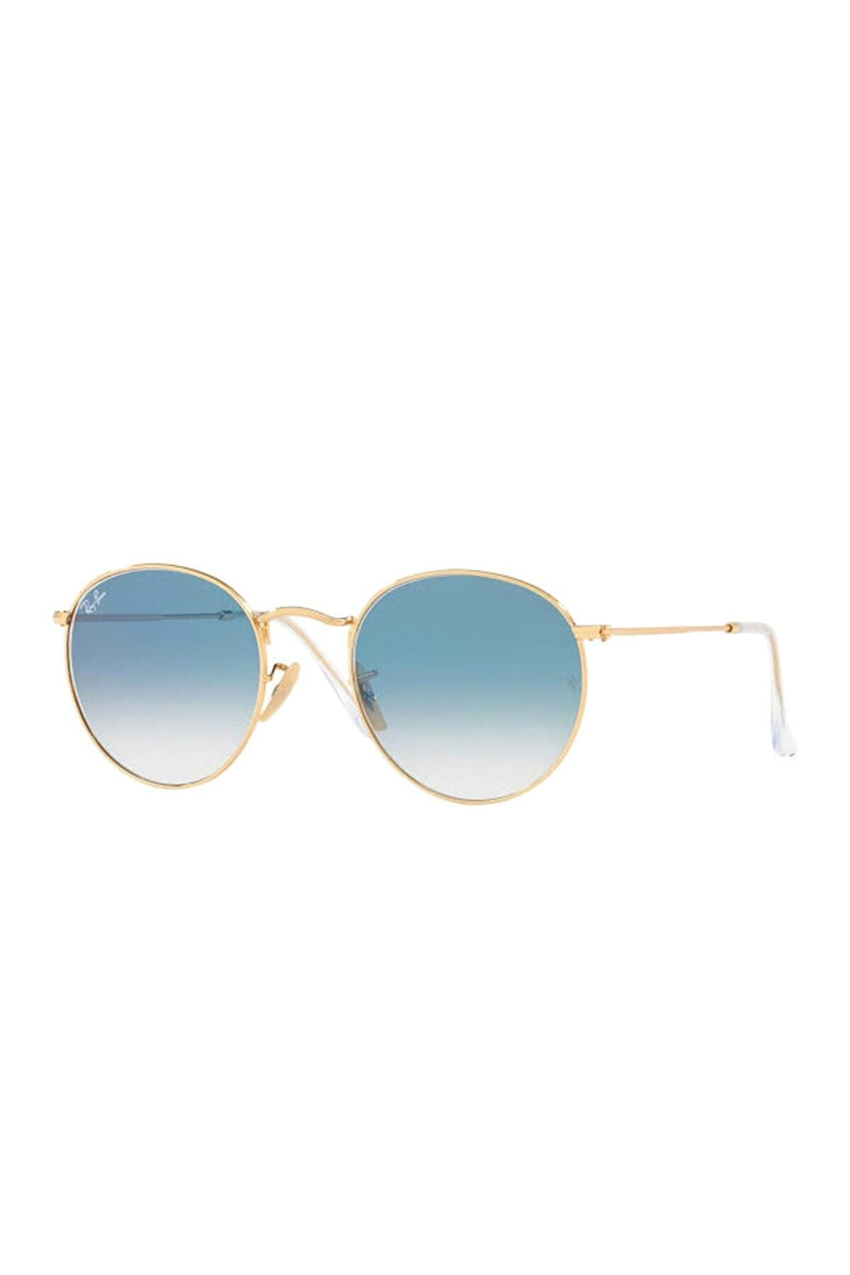 عینک دودی اسپرت ارزان برند ری بن رنگ طلایی ty35005776