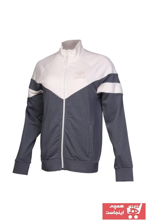 خرید گرمکن ورزشی نخی مارک هومل رنگ نقره ای کد ty35110600