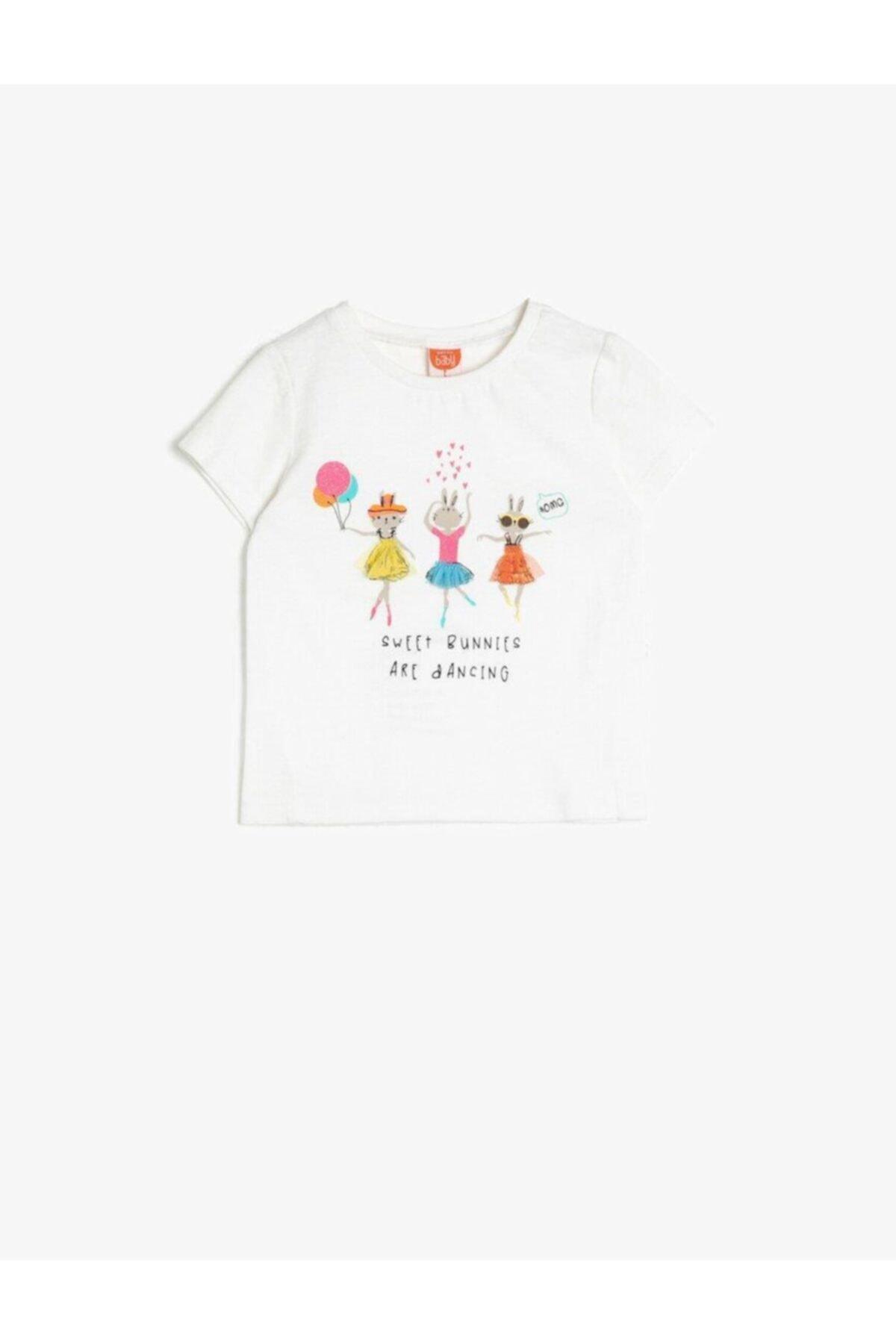 تیشرت نوزاد دخترانه مجلسی برند Koton Kids رنگ بژ کد ty35136024