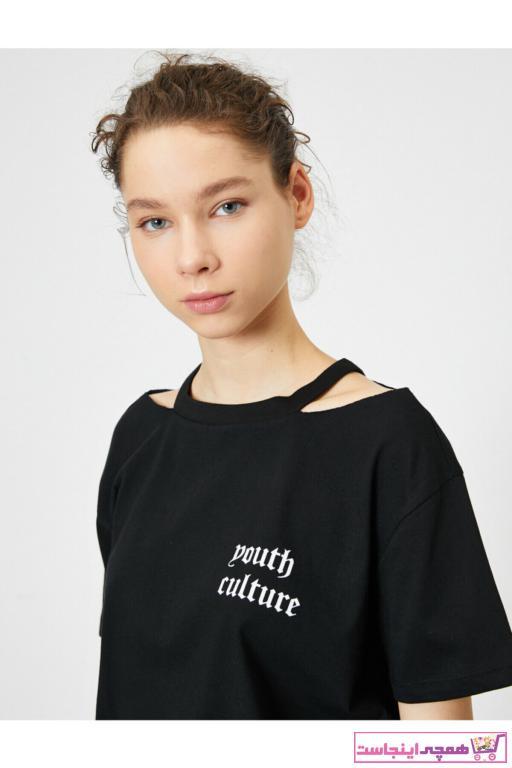 تیشرت شیک زنانه برند کوتون رنگ مشکی کد ty35285644