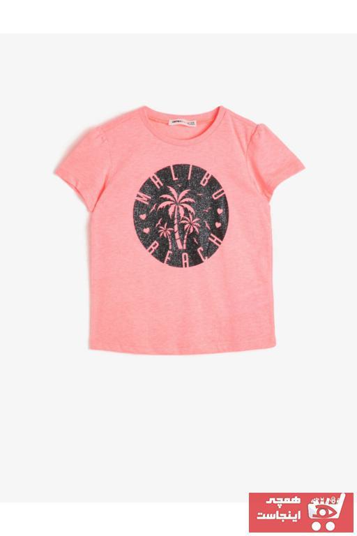 فروش پستی تیشرت دخترانه شیک جدید برند Koton Kids رنگ صورتی ty35294154