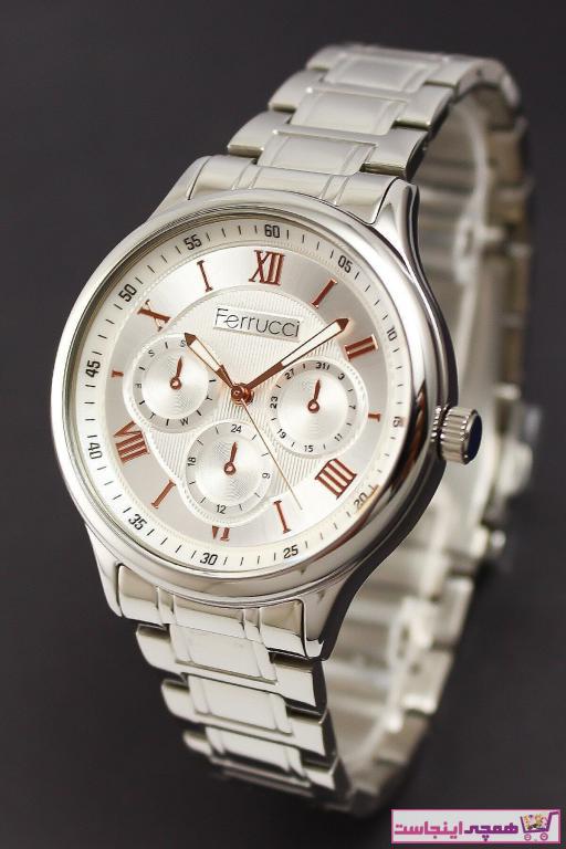 خرید انلاین ساعت شیک زنانهارزان برند Ferrucci رنگ نقره کد ty35403761