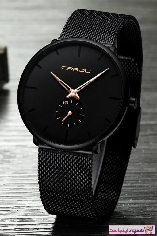 خرید ساعت مچی مردانه لوکس ارزان برند Crrju رنگ مشکی کد ty35451708