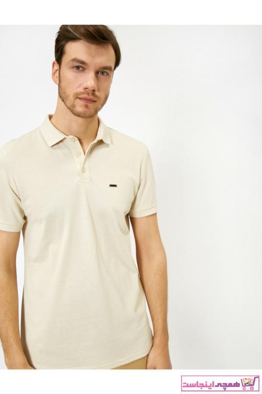 خرید نقدی پولوشرت تابستانیی مردانه برند کوتون رنگ بژ کد ty35457919
