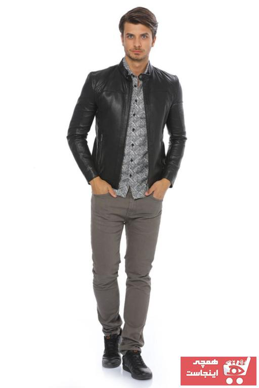 ژاکت چرم مردانه قیمت مناسب برند پیرکاردین رنگ مشکی کد ty35478989