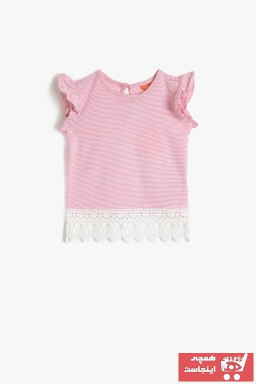 تیشرت شیک نوزاد دخترانه برند Koton Kids رنگ صورتی ty35499776