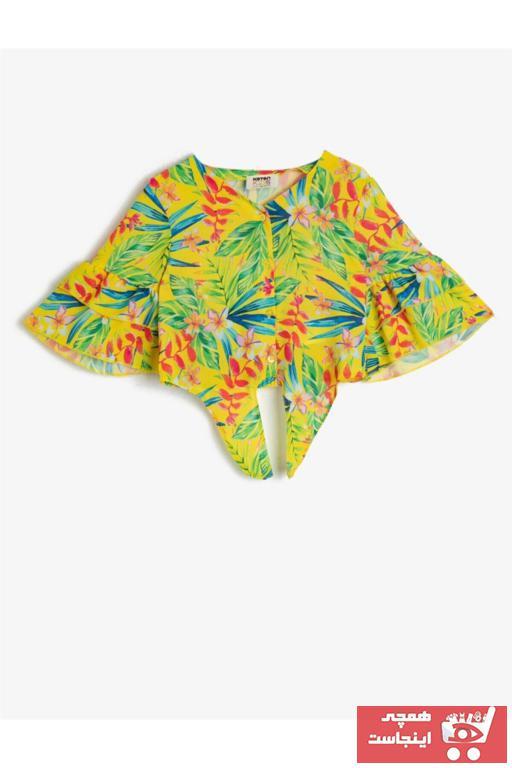 خرید اینترنتی پیراهن خاص دخترانه برند Koton Kids رنگ زرد ty35499784