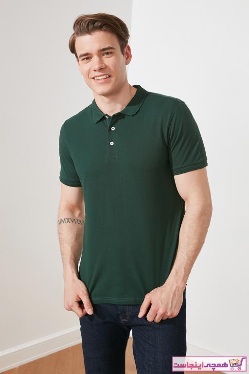 پولوشرت زیبا مردانه برند ترندیول مرد رنگ سبز کد ty35615744