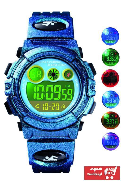 فروش پستی ساعت بچه گانه ترک برند Skmei رنگ لاجوردی کد ty35639811