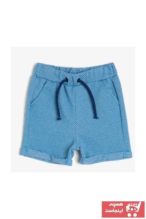شلوارک نوزاد پسر حراجی برند Koton Kids رنگ آبی کد ty35665566