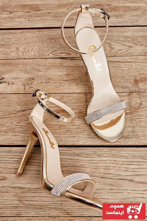 کفش پاشنه بلند مجلسی ساده برند بامبی رنگ زرد ty35885208