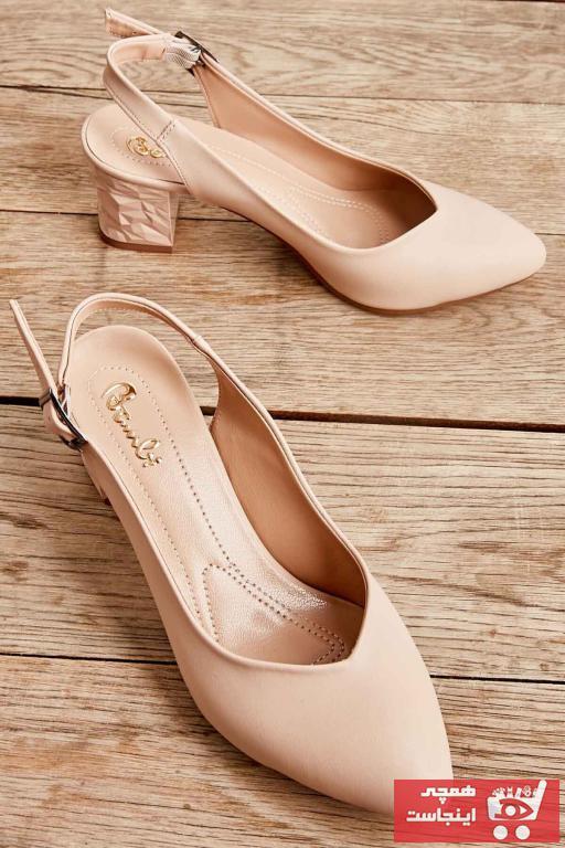 مدل کفش پاشنه بلند مجلسی 2021 برند بامبی رنگ بژ کد ty35885817